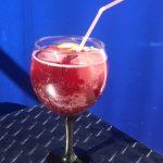glass of sangria.